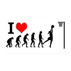 I Love Netball Sticker Wall Sticker