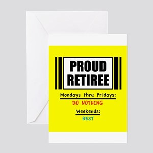 Proud Retiree Greeting Cards