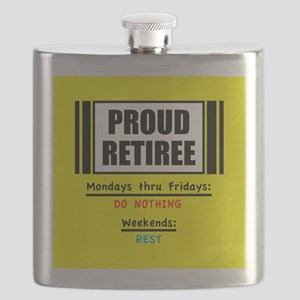 Proud Retiree Flask