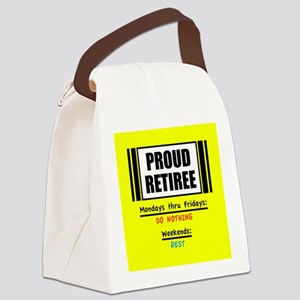 Proud Retiree Canvas Lunch Bag