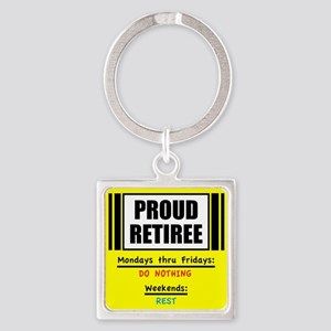 Proud Retiree Keychains