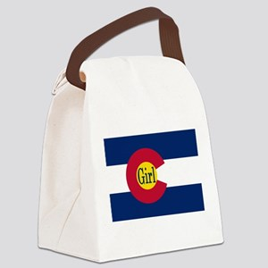 Colorado Girl Flag Canvas Lunch Bag