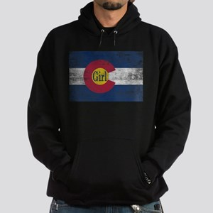 Colorado Girl Flag Aged Hoodie (dark)
