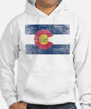 Colorado Girl Flag Aged Jumper Hoody