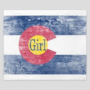 Colorado Girl Flag Aged King Duvet
