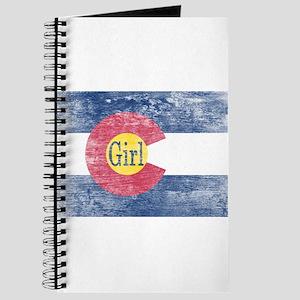 Colorado Girl Flag Aged Journal