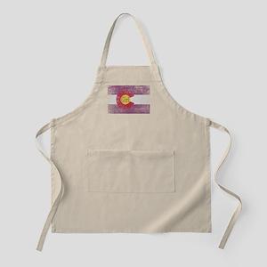 Colorado Girl Flag Pink Aged Apron