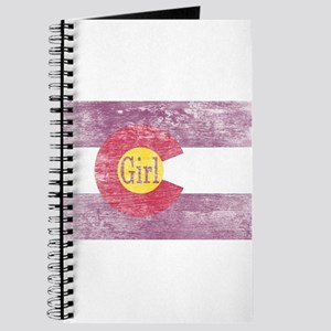 Colorado Girl Flag Pink Aged Journal