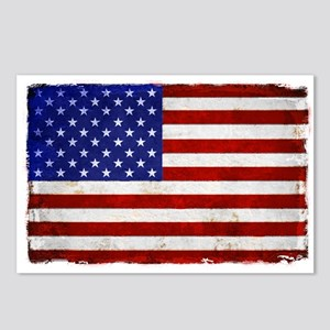 aMERICAN FLAG VINTAGE BRI Postcards (Package of 8)