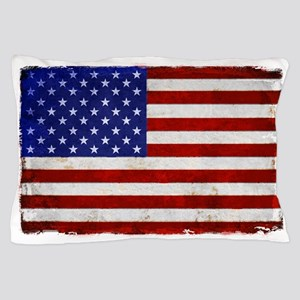 aMERICAN FLAG VINTAGE BRIGHT Pillow Case