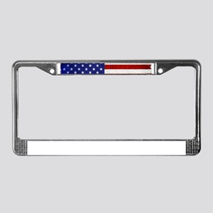 aMERICAN FLAG VINTAGE BRIGHT License Plate Frame