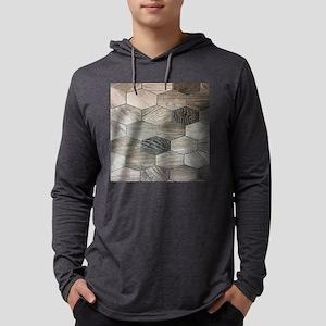 abstract geometric Hexagon pat Long Sleeve T-Shirt