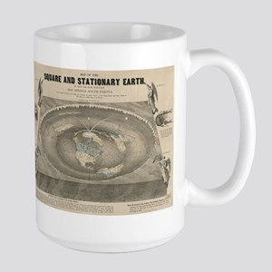 Flat Earth Map, 1893 Mugs