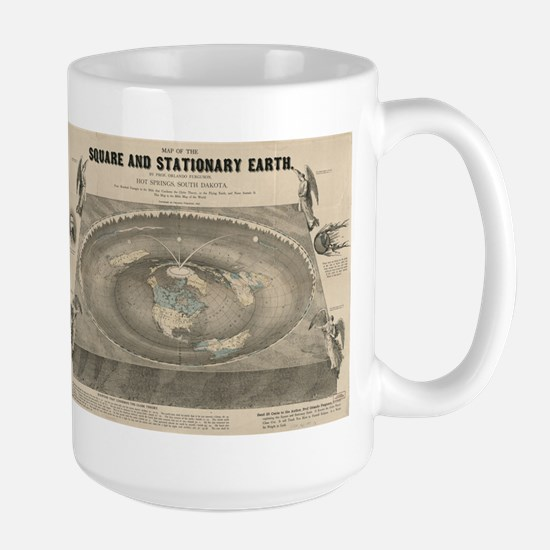 Flat Earth Map, 1893 Mugs