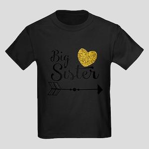 Big Sister Gold Heart T-Shirt