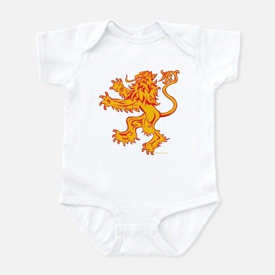 Lion Gold Red Infant Bodysuit