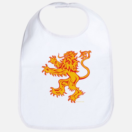 Lion Gold Red Cotton Baby Bib