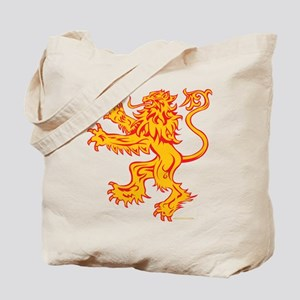Lion Gold Red Tote Bag