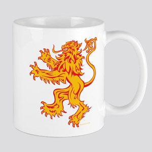 Lion Gold Red Mug