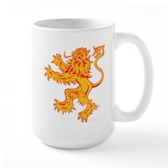 Lion Gold Red Large Mug