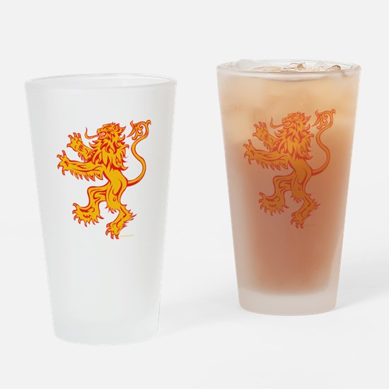 Lion Gold Red Drinking Glass