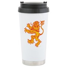 Lion Gold Red Stainless Steel Travel Mug
