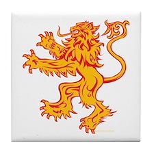 Lion Gold Red Tile Coaster