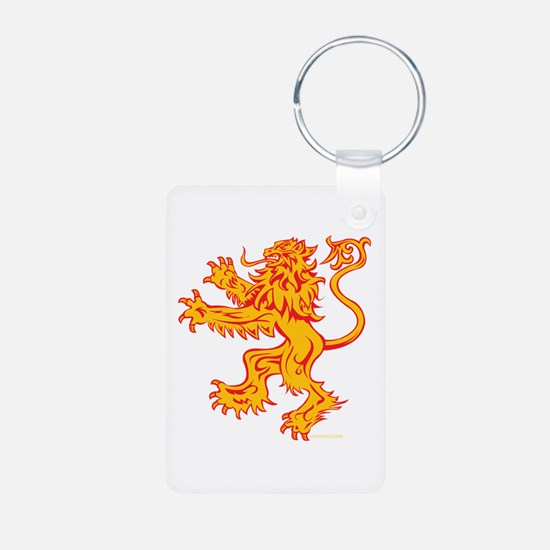Lion Gold Red Keychains