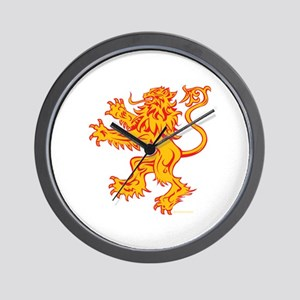 Lion Gold Red Wall Clock