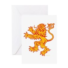 Lion Gold Red Greeting Card