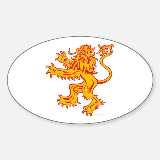 Lion Gold Red Sticker (Oval)
