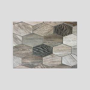 abstract geometric Hexagon pattern 5'x7'Area Rug