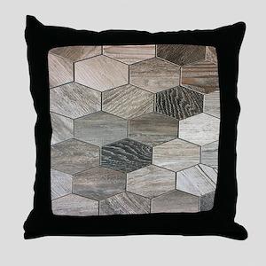 abstract geometric Hexagon pattern Throw Pillow