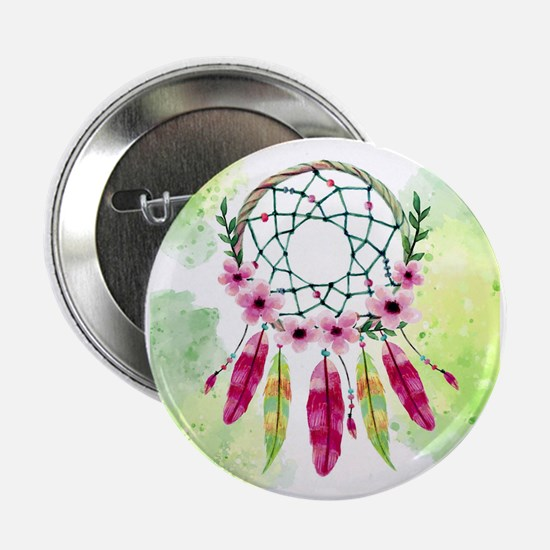 """Cool Feathers 2.25"""" Button"""