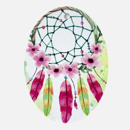 Boho Oval Ornament