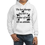 Best Therapy Dog Hooded Sweatshirt