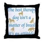 Best Therapy Dog Throw Pillow