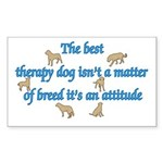 Best Therapy Dog Rectangle Sticker