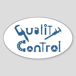 Quality Control Sticker (Oval)