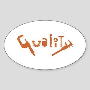 Quality Sticker (Oval)