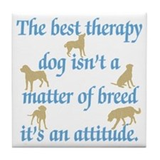 Best Therapy Dog Tile Coaster