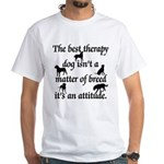 Best Therapy Dog White T-Shirt