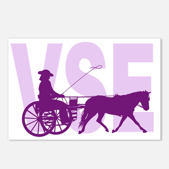 Horses carriages Postcards (Package of 8)