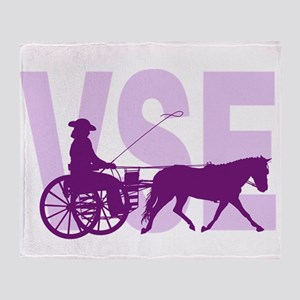 VSE - Miniature Horse Driving Throw Blanket