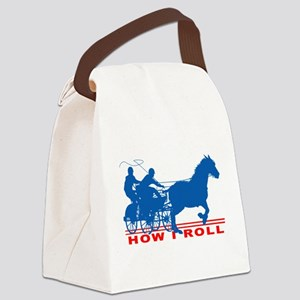 How I Roll - Carriage Driving Canvas Lunch Bag