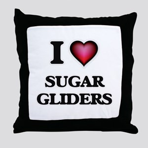 I Love Sugar Gliders Throw Pillow
