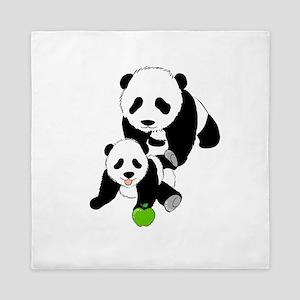 Mother and Baby Panda Queen Duvet