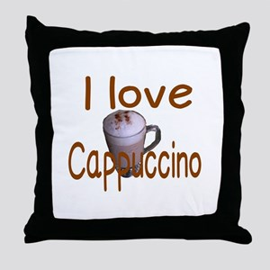I love Cappuccino Throw Pillow