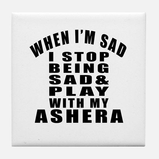 Play With Ashera Cat Tile Coaster