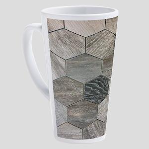 abstract geometric Hexagon pattern 17 oz Latte Mug